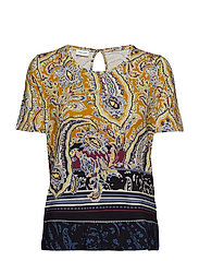 T-SHIRT SHORT-SLEEVE - YELLOW MULTICOLOR PRINT