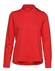 SWEAT-SHIRT SHORT-SL - FIERY RED