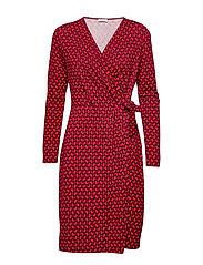DRESS KNITTED FABRIC - FIERY RED RUBIN PRINT