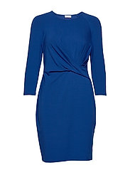 DRESS KNITTED FABRIC - BLAZING BLUE