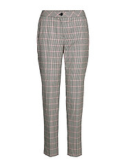 LEISURE TROUSERS LON - BLACKOFFWHITESPICEDCORAL CHECK