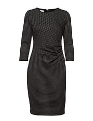 DRESS KNITTED FABRIC - BLACK/ MARZIPAN
