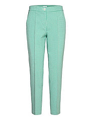CROP LEISURE TROUSER - ALOE OFF WHITE PATTERNED