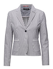 BLAZER LONG-SLEEVE U - ECRU/WHITE/BLUE STRIPES