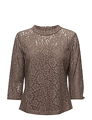 BLOUSE 3/4-SLEEVE - TAUPE