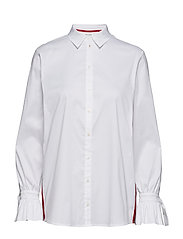 BLOUSE LONG-SLEEVE - WHITE/WHITE