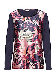 T-SHIRT LONG-SLEEVE - BLAU/ AZALEA/ WILD ROSE PRINT
