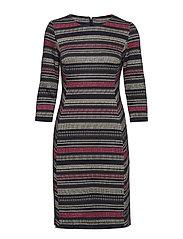 DRESS WOVEN FABRIC - INDIGO / ROSE PATTERNET