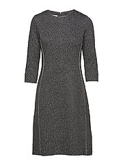 DRESS KNITTED FABRIC - GREY FIGURED