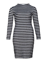 DRESS KNITTED FABRIC - SILVER-GREY BLACK