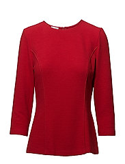 BLOUSE 3/4-SLEEVE - RED
