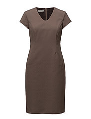 DRESS WOVEN FABRIC - TAUPE