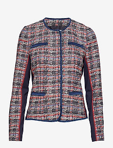 BLAZER LONG-SLEEVE - NAVY/ RED/ PINK CHECK