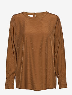 BLOUSE LONG-SLEEVE - TOFFEE