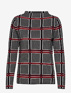 PULLOVER LONG-SLEEVE - BLACK OFFWHITE RED CHECK