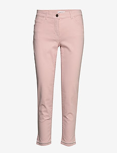 CROP TROUSERS JEANS - ROSEWATER
