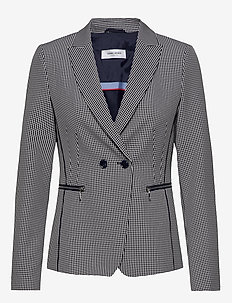 BLAZER LONG-SLEEVE - getailleerde blazers - blue/ecru/white figured