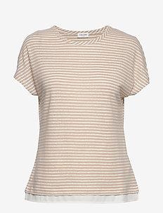 T-SHIRT SHORT-SLEEVE - stripede t-skjorter - ecru/white stripes