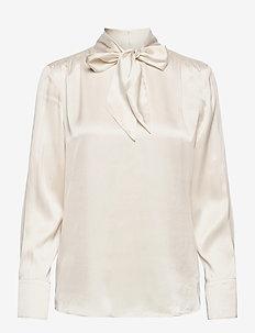 BLOUSE LONG-SLEEVE - blouses à manches longues - light ivory