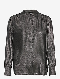 BLOUSE LONG-SLEEVE - langermede bluser - black/ silver print