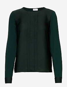 T-SHIRT LONG-SLEEVE - hauts à manches longues - emerald green