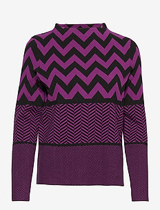 PULLOVER LONG-SLEEVE - gensere - berry/ black patterned
