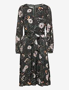 DRESS WOVEN FABRIC - midi kjoler - emerald green soft mint print