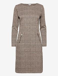 DRESS KNITTED FABRIC - midi kjoler - chocolate/ taupe figured