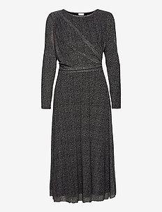 DRESS KNITTED FABRIC - midi kjoler - black/ecru/white print