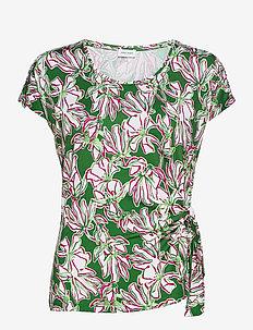T-SHIRT SHORT-SLEEVE - t-shirts - palm white azalea print