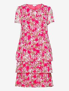 DRESS WOVEN FABRIC - summer dresses - azalea white palm print