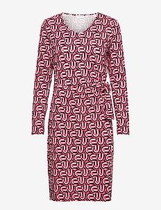 DRESS KNITTED FABRIC - vardagsklänningar - peony ivory black print