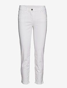 CROP TROUSERS JEANS - OFF-WHITE