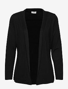JACKET KNIT FABRICS - cardigans - black