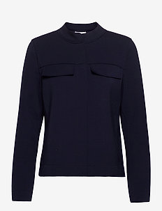 BLOUSE-JACKET - vestes legères - dark navy