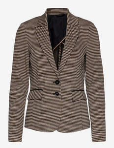 BLAZER LONG-SLEEVE - business blazer - black/ecru/white figured