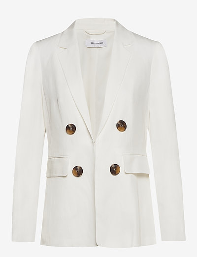 BLAZER LONG-SLEEVE - tailored blazers - off-white