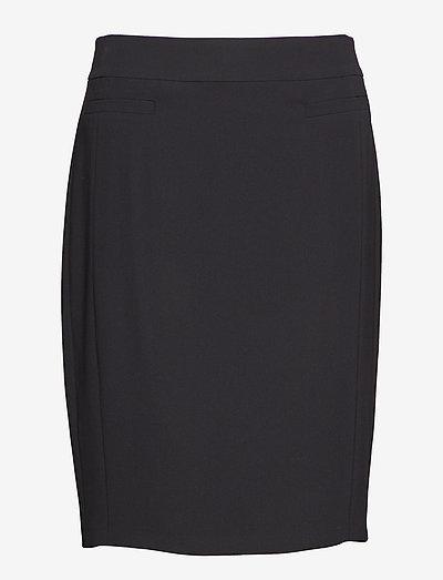 SKIRT SHORT WOVEN FA - korta kjolar - black