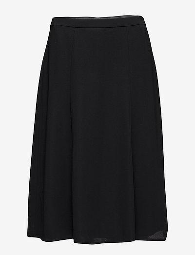 SKIRT LONG WOVEN FAB - midi kjolar - black