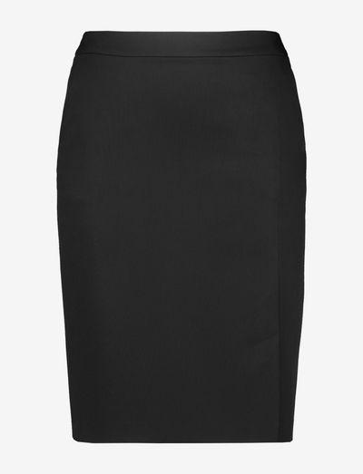 SKIRT WOVEN SHORT - midi kjolar - black