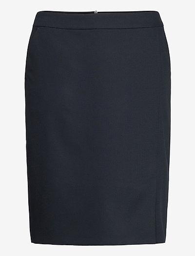 SKIRT WOVEN SHORT - midi kjolar - dark navy