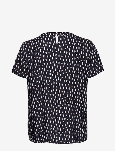 Gerry Weber Blouse Short-sleeve- Blusen & Hemden Dark Navy Offwhite Sand Print