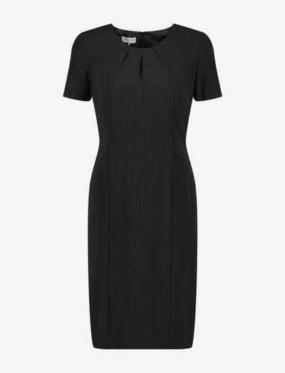 DRESS WOVEN FABRIC - fodralklänningar - black