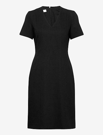 DRESS WOVEN - vardagsklänningar - black