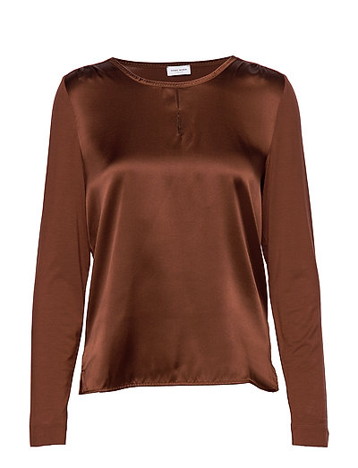 T-Shirt Long-Sleeve Bluse Langärmlig Braun GERRY WEBER