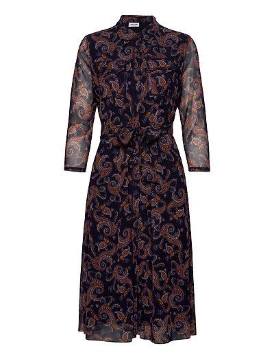 Dress Knitted Fabric Kleid Knielang Blau GERRY WEBER | GERRY WEBER SALE