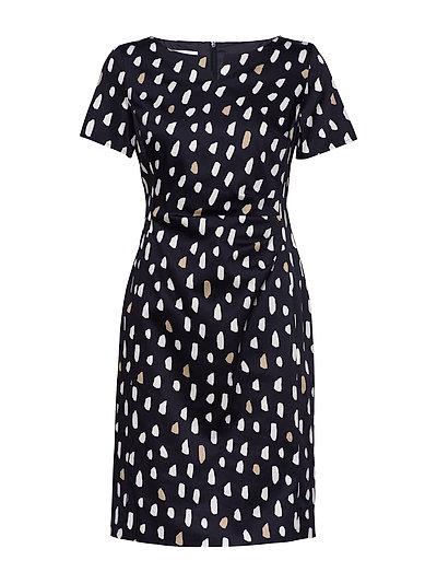 Dress Woven Fabric Kleid Knielang Blau GERRY WEBER
