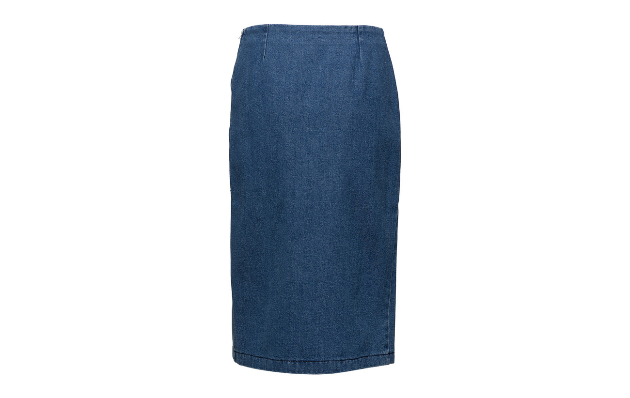 Coton 100 Blue Skirt Deona So18 Carolina Gestuz ASHYI