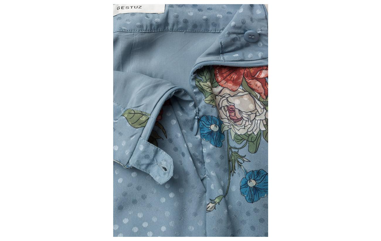 Équipement 100 Doublure Light Pants Natacha Gestuz So18 Intérieure Polyester Flower Viscose Blue g8qvnaw