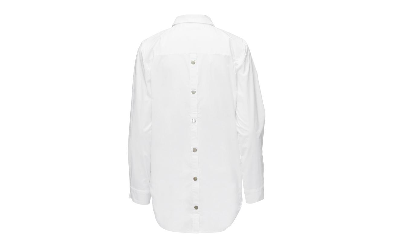 Ms18 Coton White Bright Kaya 3 Gestuz Elastane Shirt 97 wW7qRcnAC